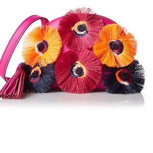 NWT Loeffler Pink Azelea floral crossbdy purse